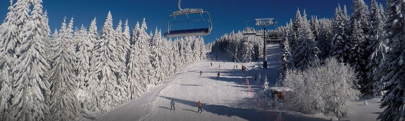 View from ski lift on ski slopes at Kopaonik.