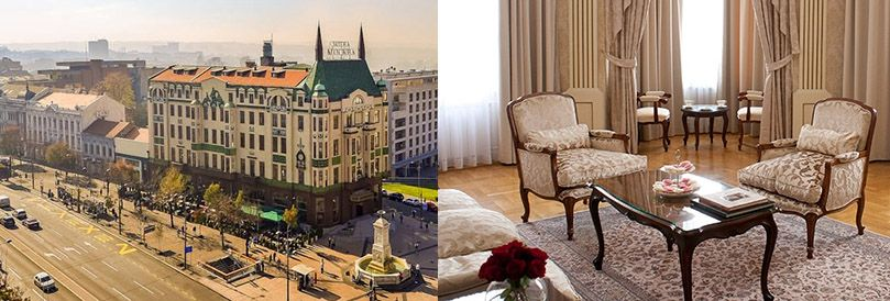 This beautiful hotel was built in the style of the Russian secession with classy interior in the center of Belgrade.