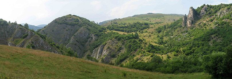 Beautiful nature and climbs at hiking tour trough uvac canyon