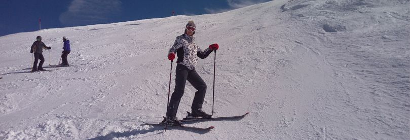 Skier on sky slope at Kopaonik ski resort