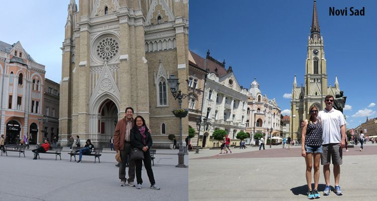 Difference between winter and summer sesaon in Novi Sad.
