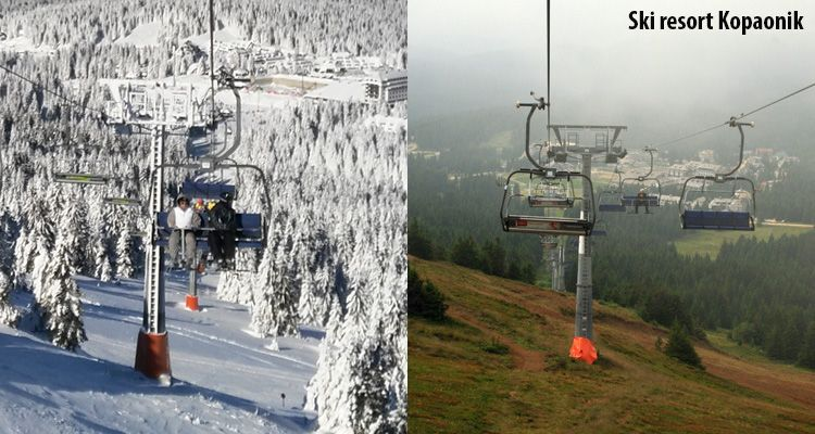 Difference between winter and summer sesaon at ski resort Kopaonik.