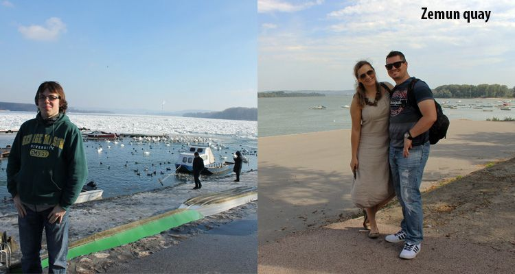 Difference between winter and summer sesaon at Zemun quay.