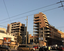 Scars of NATO bombing in Belgrade