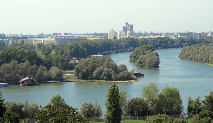 Confluence of Belgrade rivers.