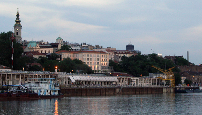 View on old town from Sava river.