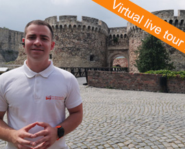Belgrade Fortress virtual live tour