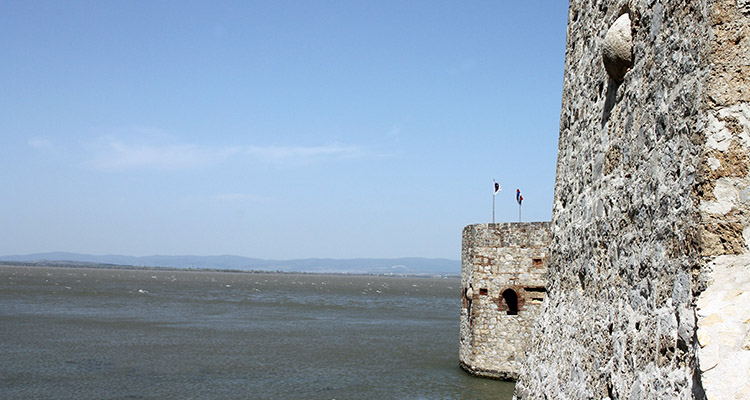 View from Golubac fortress on Danube.