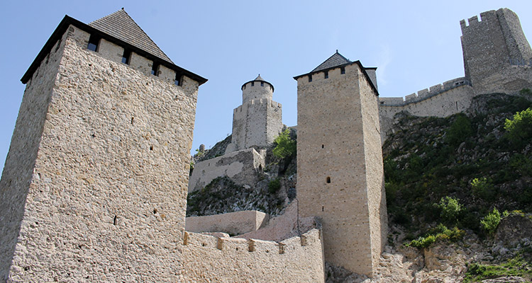 Towers of Golubac fortress